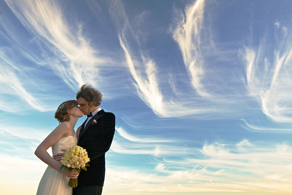 Clouds over a Perth wedding.