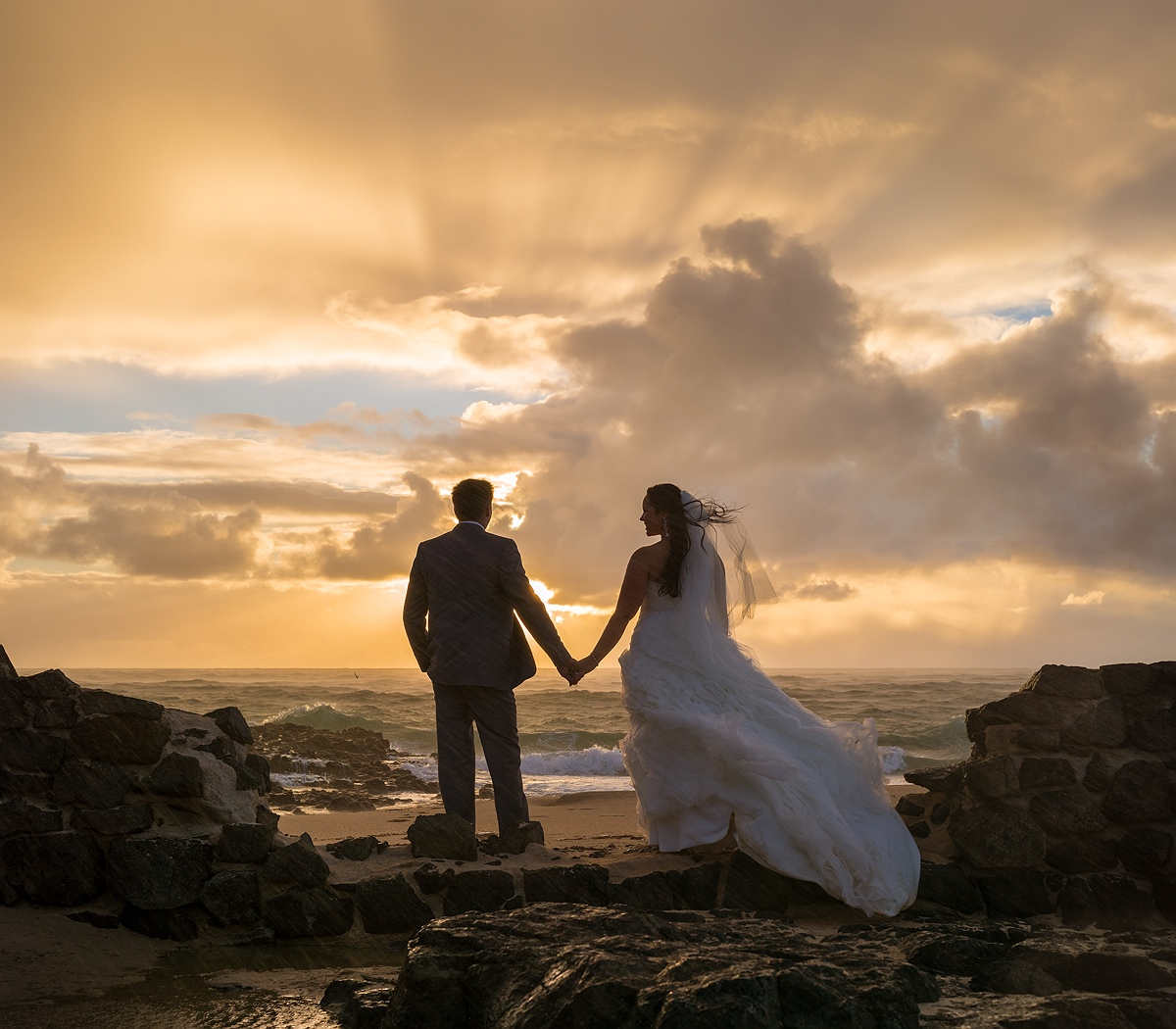 Post wedding beach photography